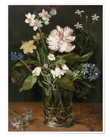 Premium-plakat Still Life with Flowers in a Glass Vase