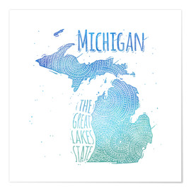 Premium-plakat michigan