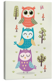 Lærredsbillede  Three owls - Kidz Collection
