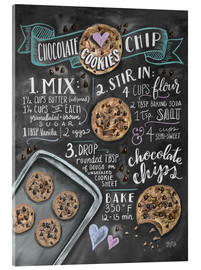 Akrylbillede  Chocolate chip cookies opskrift (engelsk) - Lily & Val
