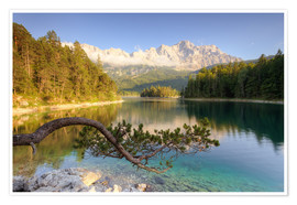 Premium-plakat At the Eibsee in Bavaria