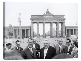 Lærredsbillede  Ludwig Erhard and Willy Brandt