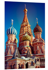 Print på skumplade  St. Basil's Cathedral, Russia
