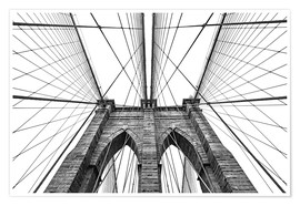 Premium-plakat  Brooklyn bridge
