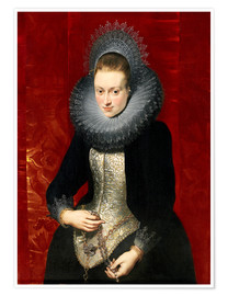 Premium-plakat woman with a rosary