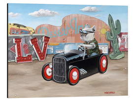 Print på aluminium  Las Vegas Hot Rod Frenchie - Macsorro