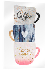 Akrylbillede  A cup of happiness - Elisabeth Fredriksson