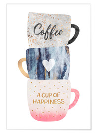 Premium-plakat A cup of happiness