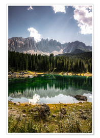 Premium-plakat Lake Carezza - Karersee