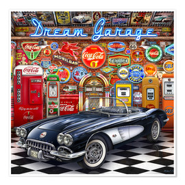 Premium-plakat Dream Garage
