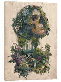Print på træ  Life and Death Surrealism - Barrett Biggers