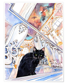 Premium-plakat  Cat in the Hermitage, Saint-Petersburg - Anastasia Mamoshina