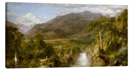 Lærredsbillede  Heart of the Andes - Frederic Edwin Church