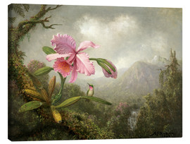 Lærredsbillede  Orchid and Hummingbird - Martin Johnson Heade