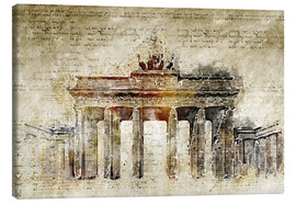 Lærredsbillede  Berlin Brandenburg Gate in modern abstract vintage look - Michael artefacti