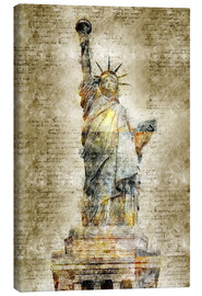 Lærredsbillede  Statue of liberty New York in modern abstract vintage look - Michael artefacti