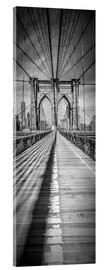 Akrylbillede  NEW YORK CITY Brooklyn Bridge Panorama - Melanie Viola
