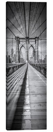 Lærredsbillede  NEW YORK CITY Brooklyn Bridge Panorama - Melanie Viola