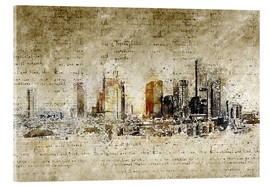 Akrylbillede  Frankfurt skyline abstract vintage - Michael artefacti