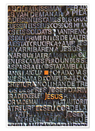 Premium-plakat  Engravings at the gate of the Sagrada Familia - HADYPHOTO