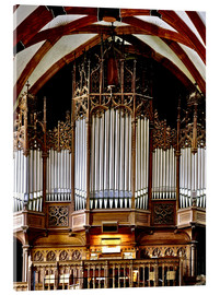 Akrylbillede  Organ in St. Thomas Church, Leipzig music trail - imageBROKER
