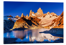 Akrylbillede  Mount Fitz Roy in Los Glaciares National Park, Argentina