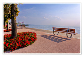 Premium-plakat Picturesque Bardolino, promenade on Lake Garda