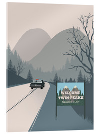 Akrylbillede  Welcome to Twin Peaks - 2ToastDesign