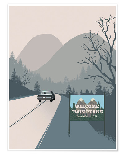 Premium-plakat Welcome to Twin Peaks