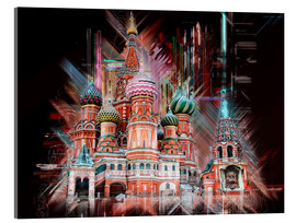 Akrylbillede  Moscow Basilica Cathedral - Peter Roder