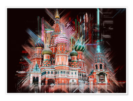 Premium-plakat  Moscow Basilica Cathedral - Peter Roder