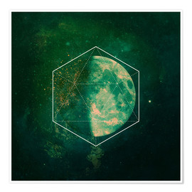 Premium-plakat green moon