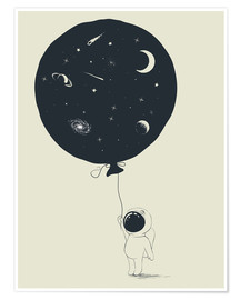Premium-plakat Space balloon
