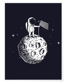 Premium-plakat The first man on the moon