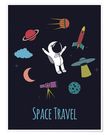 Premium-plakat Space Travel Kid