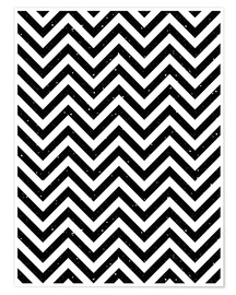Premium-plakat Herringbone pattern black and white