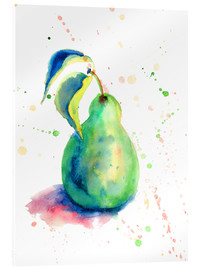 Akrylbillede  Sweet pear watercolor
