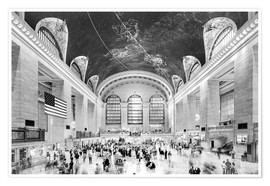 Premium-plakat Grand Central Terminal, New York (monochrome)