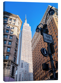 Lærredsbillede  New York City Sky High, Empire State Building - Sascha Kilmer