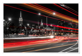 Premium-plakat New York City view with Empire State Building