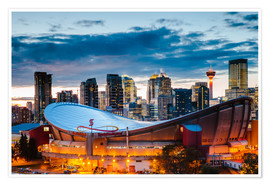 Premium-plakat Stadium and Skyline of Calgary, Canada