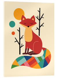 Akrylbillede  Rainbow Fox - Andy Westface