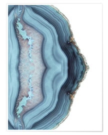 Premium-plakat Light blue agate