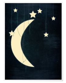 Premium-plakat Moon and stars