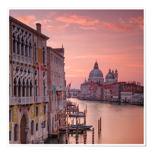 Premium-plakat Venice and the grand Canal at sunrise