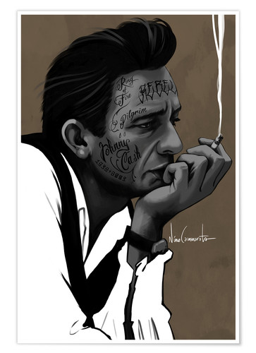 Premium-plakat johnny cash