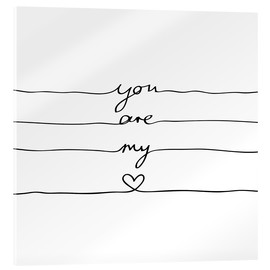 Akrylbillede  You are my heart - Mareike Böhmer Graphics