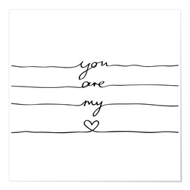 Premium-plakat  You are my heart - Mareike Böhmer