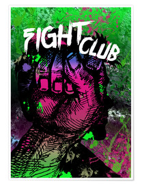 Premium-plakat Fight Club - Minimal alternative Film Fanart #2