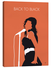 Lærredsbillede  Back to black - Amy Winehouse Minimal Music poster - chungkong